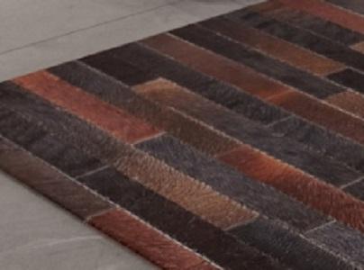 שטיח טלאים עור עבודת יד דגם A5