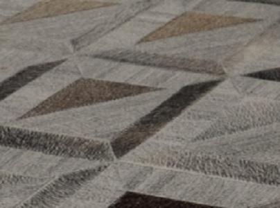 שטיח עור משולב טאפי דגם A6